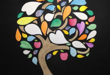 Watercolored Papercut Tree by Oats DIY
