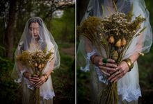The woodland-boho bride by Kim Jey Photography