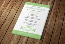 Bridal Shower Invitation by Blue Line Design