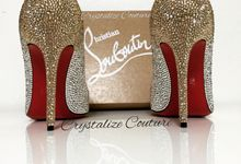 Three tone Red Bottoms by Crystalize Couture
