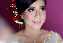 Wedding Makeup For kak Naomi Turnip by IMELDAPROMAKEUP