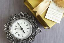 Alarm Clock Pewter - Puteri & Andika by Red Ribbon Gift