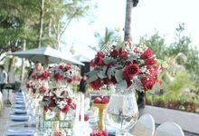 Dinner Decor At The Anvaya Hotel by d'Oasis Florist & Decoration