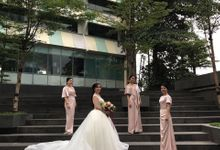 Bridesmaids of Alvin & Wimelia by NICOLEBOENAWAN