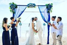 Samabe Bali Suites & Villas beach wedding by Jc Florist Bali