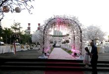 Outdoor Wedding At The Banquet by Bali Indah Catering