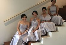 Bridesmaids of Ken and Vina by NICOLEBOENAWAN