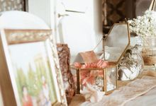 Sean and Joon on Rustic Wedding by Memoir Decor
