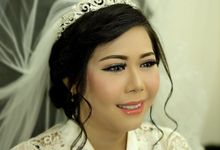wedding makeup for Ms anis by Poppy Ludovita MUA