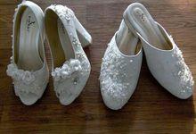Couple Bride N Groom by Wedding shoes by Biondi