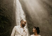 Waterfall Wedding Ceremony by Happy Bali Wedding