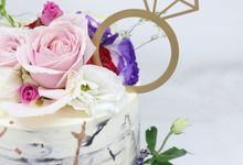 Engagement Cake by Ame Cakery