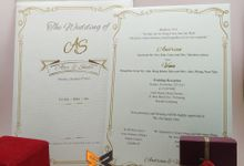 custom design by xime wedding card