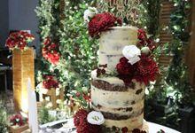 Burgundy - Rustic Wedding Cake by Ame Cakery