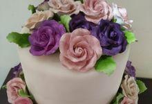 Colourfull Wedding Cake by Sugaria cake
