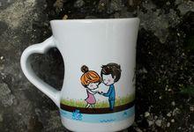 Mug F.mini Love Wedding Dita& Jericho by Mug-App Wedding Souvenir