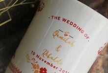 Mug F.Mini Love Qamilah dan Rifaldi by Mug-App Wedding Souvenir