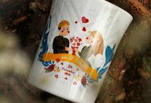 Mug F.Mini Love Adi dan Dinar by Mug-App Wedding Souvenir