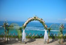wedding ceremony with pergola 4 stand by Tuberose deco & florist