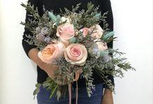 Fresh Flower Bouquet Wedding by Magnolia Dried Flower