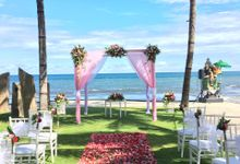 Wedding Ceremony At The Royal Purnama Villas by Becik Florist