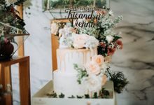 Engagement Cake TRICANDRA & VIENNA by Evergreen Cake Boutique