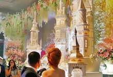 Castle Wedding Cake by Evergreen Cake Boutique
