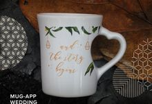 Mug F.mini Love Wedding Renata&Arhady by Mug-App Wedding Souvenir