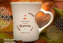 Mug F.mini Love Wedding Ari&Nadia by Mug-App Wedding Souvenir