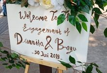 Engagement of Dannita & Bayu by Glowy wedding organizer