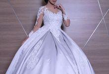 Silver Ballgown by Aisya Argubi