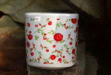 Mug Kotak Full Flowers by Mug-App Wedding Souvenir