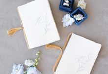 Dusty Blue by Pensée invitation & stationery
