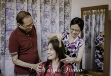 KUA Chinese Couple Wedding by Angel Chua Lay Keng Makeup and Hair