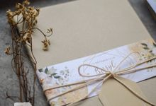 Hardcover Simple Pocket Wedding Card - BERRYL & AYOK by Jogja Wedding Net