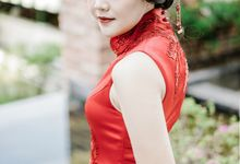 Custom Cheongsam With Lace And Beading by Nelly Liu Label
