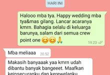 Testimoni Tya & Gilang by Point One Wedding Organizer