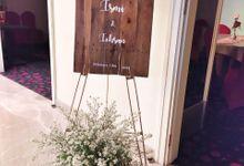 Wedding Intimate Ismi & Ichsan by Rosepetal Backdrop