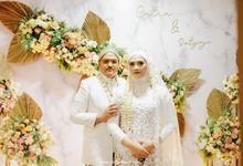 Wedding Intimate Of Catra & Satyaji by Rosepetal Backdrop