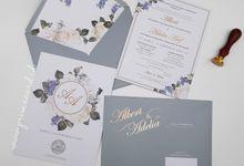 Wedding Invitation Of Albert Adelia by Prima Card