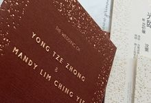 Wedding Invitation Of Yong Zhong Mandy Lim by Prima Card
