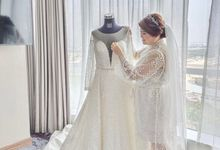Two Look Custom Made Wedding Gown Morning Looks by D BRIDE
