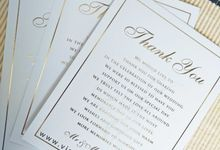 Jarod & Elly - thankyou card by Vinas Invitation