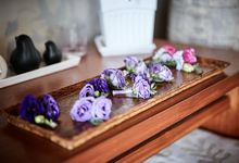 Wedding with vibrant shades of purple navy & lilac by Samui Weddings and Events