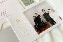 From the wedding of Richard & Rahelia by Moria Invitation