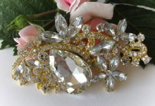 BRIDAL CRISTAL BROCHES by Pamela Falli