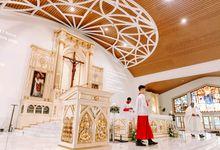 Church of St. Francis Xavier's   Jason + Charlaine by JOHN HO PHOTOGRAPHY