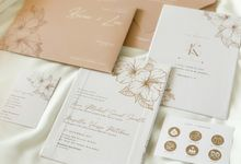 From the wedding of Kevin & Lia by Moria Invitation