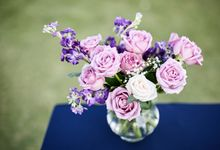Purple Lilac  Navy and Gold wedding by Samui Weddings and Events