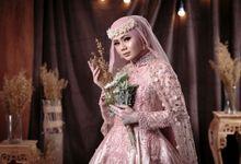 Laksmi Newest Collection Photoshoot Goldie Pink Gown Resepsi Rina by LAKSMI - Kebaya Muslimah & Islamic Bride